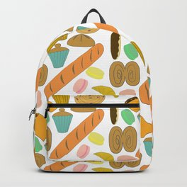 Patisseries de France French Pastries and Breads Backpack