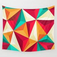 diamond Wall Tapestries featuring Diamond by Azarias