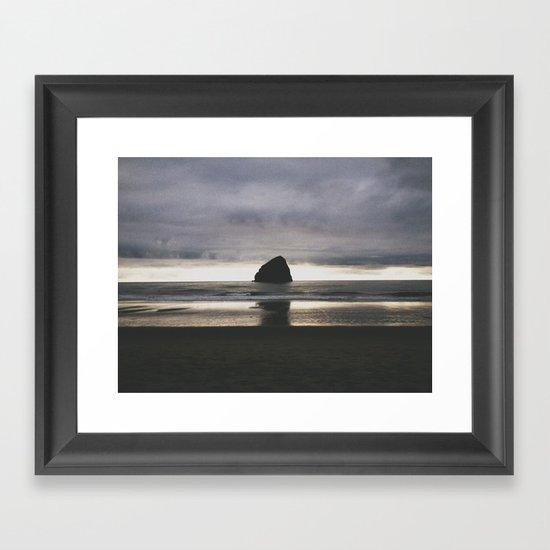 Pacific City Sunset Framed Art Print