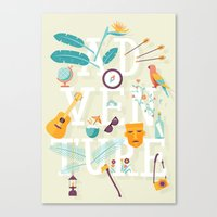 adventure Canvas Prints featuring Adventure  by Wharton