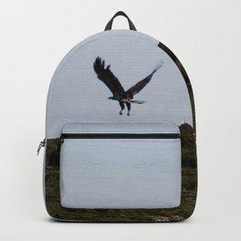 Osprey In Flight on the Ocean Backpack