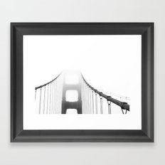 Golden Gate: Fog Framed Art Print