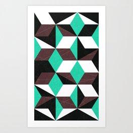 rhombus mania Art Print