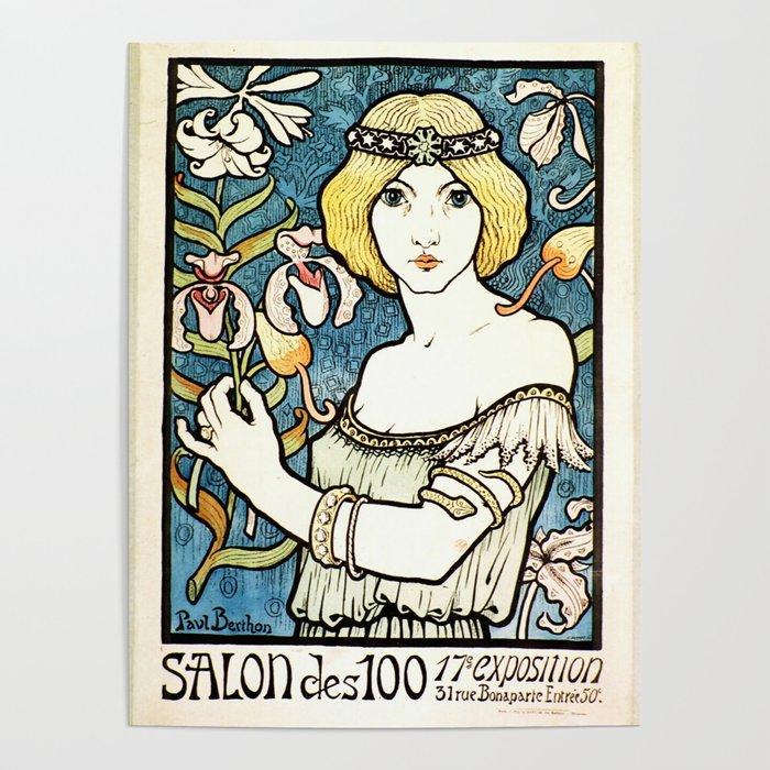 Paul Berthon Salon Des Cent Vintage Art Nouveau Poster by artgallery