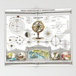 Sphere Armillaire - Astronomical and Cosmographical Chart Throw Blanket