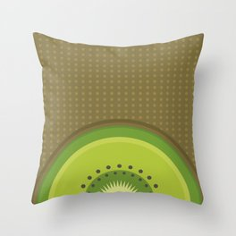Kiwi Pop Throw Pillow