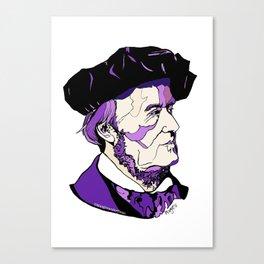 Composer Richard Wagner Canvas Print