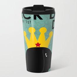 Black Dog Day Royal Crown Metal Travel Mug