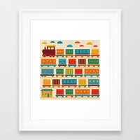 train Framed Art Prints featuring Train by Kakel