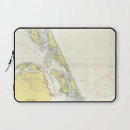 Vintage Map of The Outer Banks (1942) Laptop Sleeve