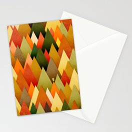 071 – deep into the autumn forest texture II Stationery Cards