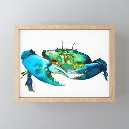Crab Watercolour Painting Print by Bonnie Dixson, Art, Animal Art, Home Decor Framed Mini Art Print