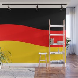 Black Red and Yellow German Flag Wave Wall Mural