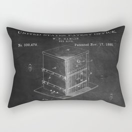 Beehive Patent with Bees Rectangular Pillow
