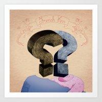 french kiss. question series Art Print