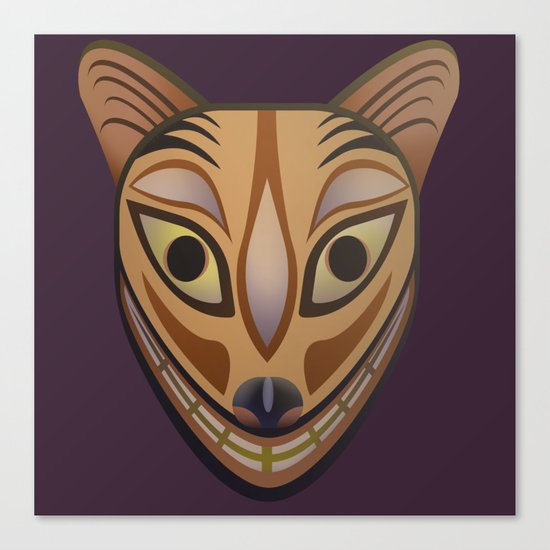 Feline tribal mask Canvas Print