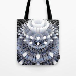 3D layers of mandala in blue-white-grey-black Tote Bag