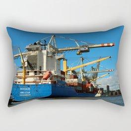 Container Ship Rectangular Pillow