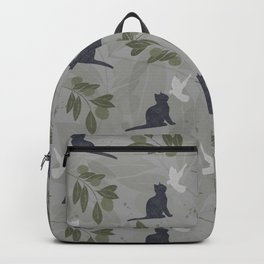 peace and joy gray Backpack