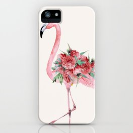 Flamingo Floral iPhone Case