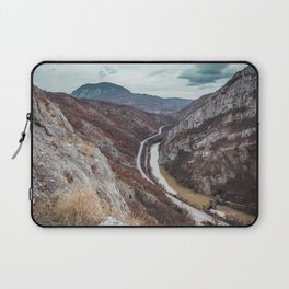Beautiful photo of the canyon in Serbia, with river and the highway in the middle Laptop Sleeve