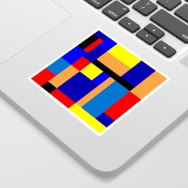 Mondrian #2 Sticker