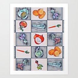 Winter Veg. Art Print