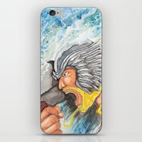 thor iPhone & iPod Skins featuring Thor by Kirsten L George