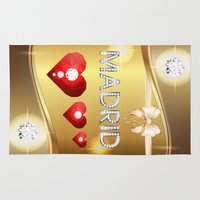 madrid Area & Throw Rugs featuring Madrid 01 by Daftblue