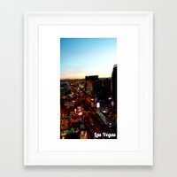 las vegas Framed Art Prints featuring Las Vegas by Natasha Jones