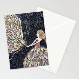 She Fancied a sky full of Feathers Stationery Cards