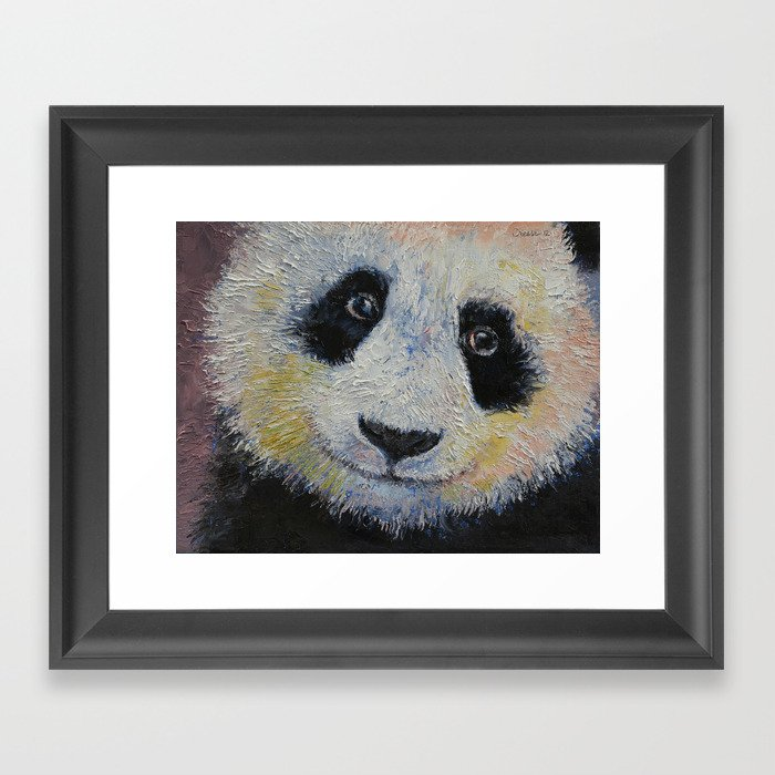 Panda Smile Framed Art Print