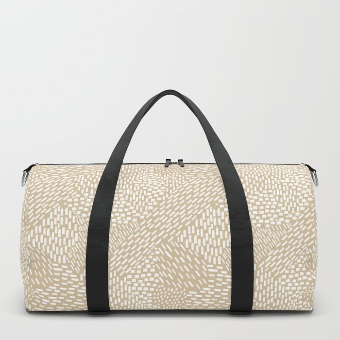 Brushstrokes Abstract Texture, Tan Duffle Bag