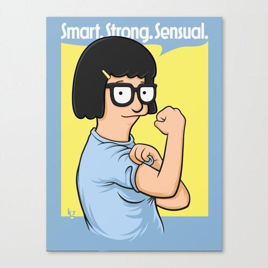 Smart. Strong. Sensual. Canvas Print