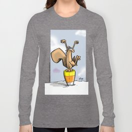 Candy Corn Crane Technique Long Sleeve T-shirt