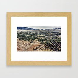 Border Fence Framed Art Print