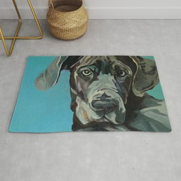Great Dane Dog Portrait Rug