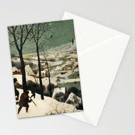 The Hunters in the Snow, Pieter Bruegel the Elder Stationery Cards
