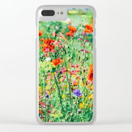The Wild Flowers (Color) Clear iPhone Case