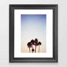 Sunset and Palms Framed Art Print