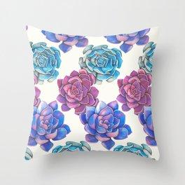Vibrant Succulents  Throw Pillow