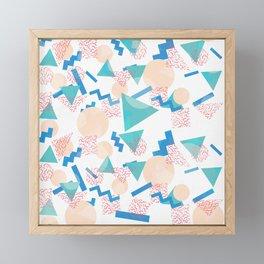 90's Pastel Geometric Pattern Framed Mini Art Print