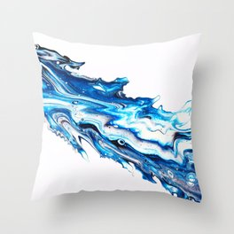 Icy Shiver Throw Pillow