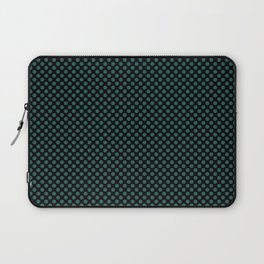 Black and Bayberry Polka Dots Laptop Sleeve