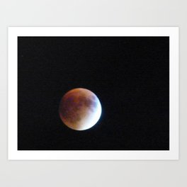 Supermoon Eclipse 3 Art Print