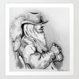 husky man Art Print