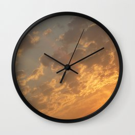 Sun in a corner Wall Clock