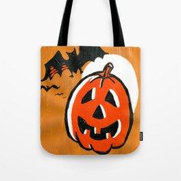 Vintage Jack o' Lantern and Bats Tote Bag