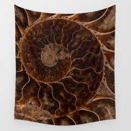 Brown Ammonite Wall Tapestry