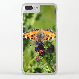 Little Tortoiseshell Buterfly Clear iPhone Case